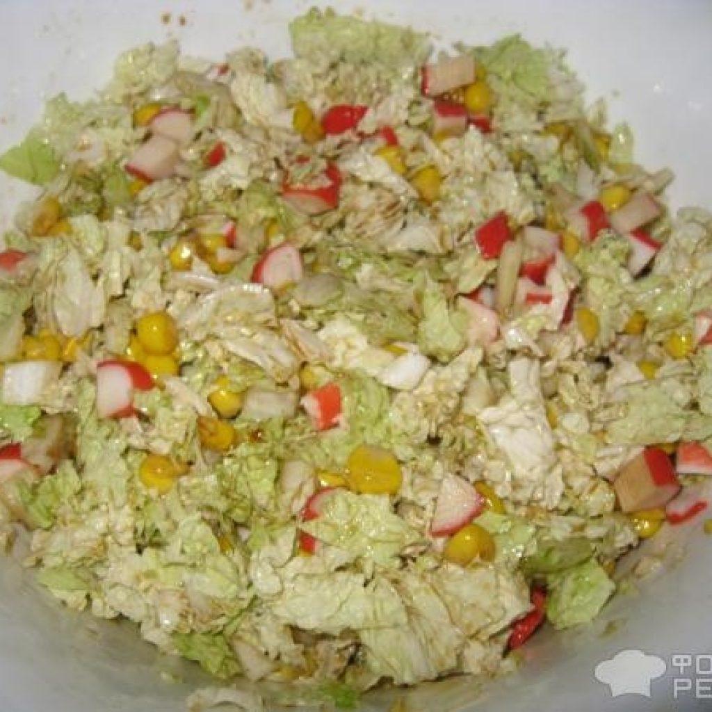 Салаты с соевым соусом и пекинской капустой рецепт с