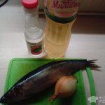 Рецепт: Филе сельди с луком — По домашнему