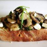 Постная брускетта с грибами и перцем чили, рецепт с фото
