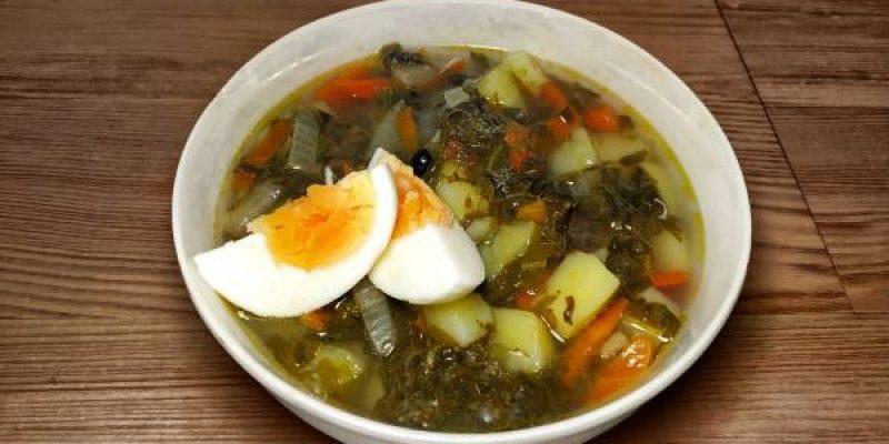 Щавелевый суп с курицей и яйцом, рецепт с фото и видео