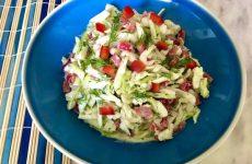 Салат из свежей капусты с перцем