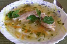 Рисовый суп с кроликом