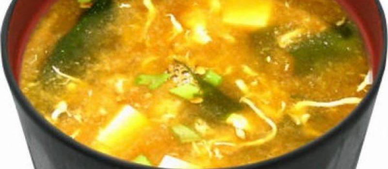 Мисо-суп с окунем на гриле, рецепт с фото