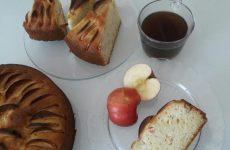 Рецепт: Яблочный пирог — На кефире и сметане. Простой домашний пирог к чаю. Можно печь хоть каждый день.
