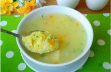 Суп из кукурузной крупы.