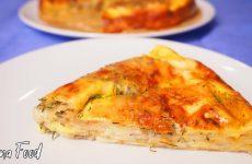 Сырный пирог из лаваша с зеленью в духовке, рецепт с фото и видео