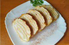 Ленивый рулет из куриного филе с сыром и специями, рецепт с фото и видео