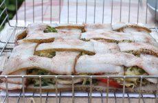 Картошка с салом, грибами и зеленью на мангале на углях, рецепт с фото и видео