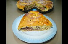 Пирог на кефире с мясом и картошкой, рецепт с фото и видео