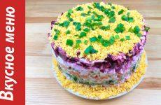 Слоеный салат Овощной торт с картошкой и колбасой, рецепт с фото пошагово и видео