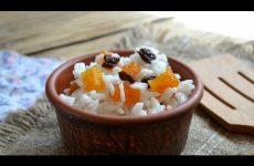 Рисовая кутья с сухофруктами и медом, рецепт с фото и видео