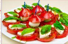 Помидоры с моцареллой и базиликом по-итальянски, рецепт с фото и видео