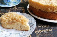 Датский пирог «Мечта» на молоке с кокосовой стружкой, рецепт с фото и видео