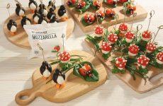 Закуска «Пингвин» с моцареллой и маслинами, рецепт с фото и видео
