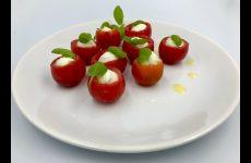 Закуска из помидоров черри и моцареллы для фуршета, рецепт с фото и видео