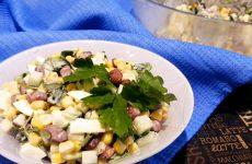 Салат с красной консервированной фасолью и кукурузой, рецепт с фото и видео
