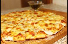 Итальянская пицца «Четыре сыра» в духовке, рецепт с фото и видео