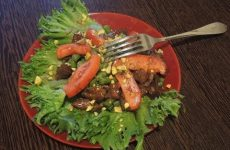 Теплый салат с говядиной, фасолью и помидорами черри, рецепт с фото и видео