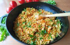 Паста птитим с курицей и овощами, рецепт с фото пошагово и видео