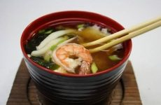 Мисо-суп с треской и креветками, рецепт с фото