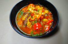 Венгерский суп гуляш Бограч с говядиной, рецепт с фото и видео