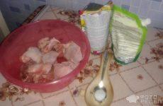 Рецепт: Куриные бедра под майонезом — Куриные бедра под майонезом — замечательное блюдо для праздничного стола