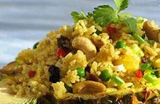 Салат с рисом и грибами