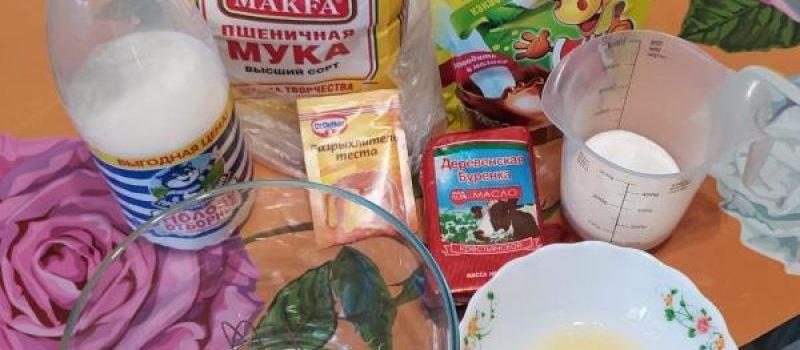 Рецепт: Кексы с какао — Из того что есть в холодильнике!