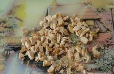 Рецепт: Салат из краснокачанной капусты и курицы — С кукурузой