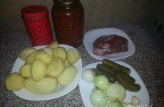 Рецепт: Азу по-татарски — со свининой