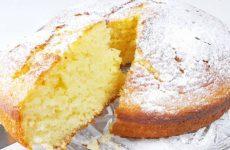 Пышный пирог на кефире без миксера
