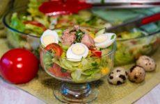 Салат с тунцом и кукурузой на праздничный стол