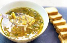 Постный суп с тыквой и чечевицей за 25 минут