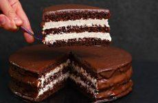 Шоколадный торт «Стаканчиковый», без весов! Вкуснейший домашний торт с творожно-сметанным кремом
