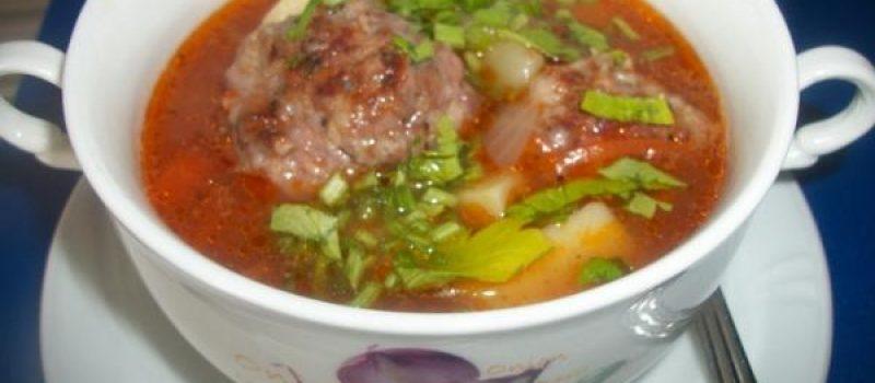 Кололак — суп с котлетами