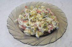 Салат «Охотничий» с сырокопченой колбасой