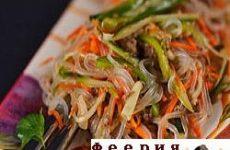 Салат «Фунчоза с морской капустой»
