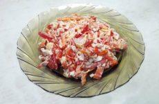 Салат «Красное море» с крабовыми палочками