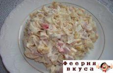 Салат из вермишели быстрого приготовления