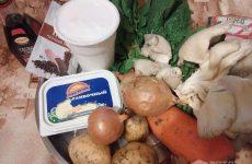 Рецепт: Суп из шпината и грибов ДеАлАл — Со сливочным сыром