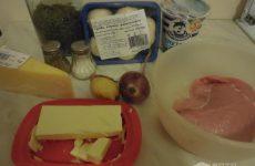 Рецепт: Отбивная из индейки с грибами — Под сырной корочкой.