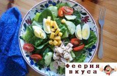 Салат с тунцом и яйцом