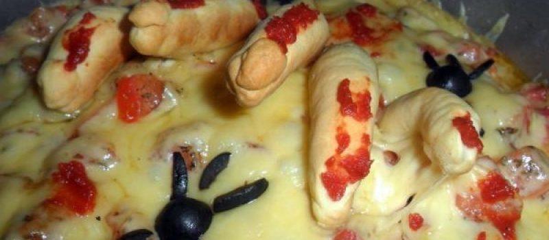 Рецепт: Сташная пицца — страшно-вкусная