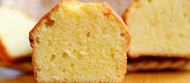 Лимонный кекс на молоке, рецепт с фото