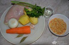 Рецепт: Простой суп гороховый с чесноком — «по-домашнему»