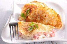 Сытные хычины с сыром и ветчиной, рецепт с фото