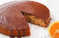 Рецепт: Шоколадно-апельсиновый торт — Сочный апельсиновый пирог с шоколадом
