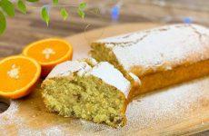 Апельсиновый кекс (Постный простой рецепт с орехами)