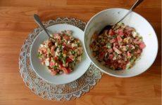 Салат из крабовых палочек с консервированной фасолью и яйцами, рецепт с фото и видео