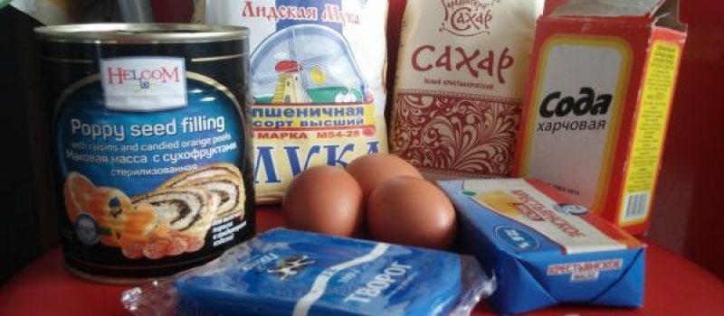 Рецепт: Маковый пирог — с творожной начинкой в духовке